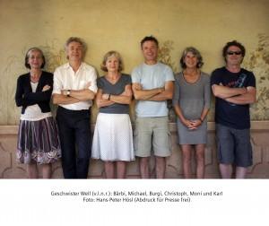v.l.n.r. Bärbi, Michael, Burgi, Christoph, Moni und Karl Well Foto: Hans-Peter Hösl